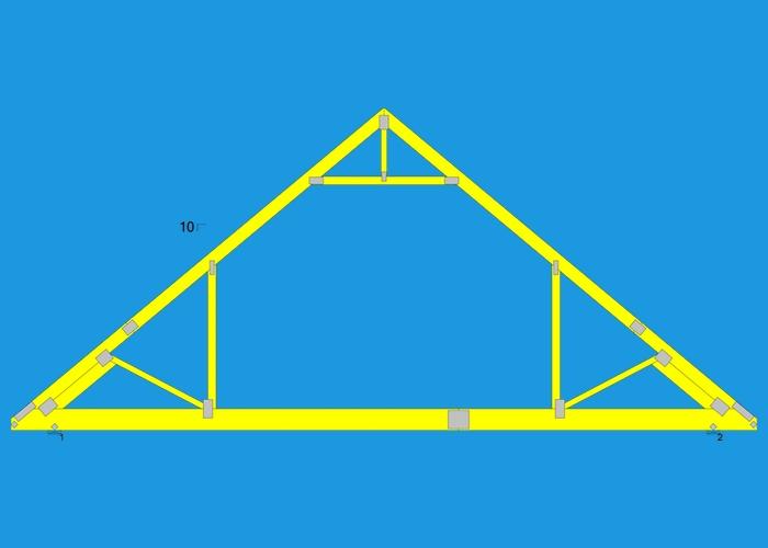 Photo 8 Of 10 Attic Truss Roof Interior Trusses